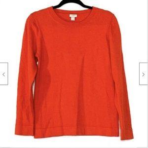 J Crew Crewneck Teddie Wool Pullover Sweater Med